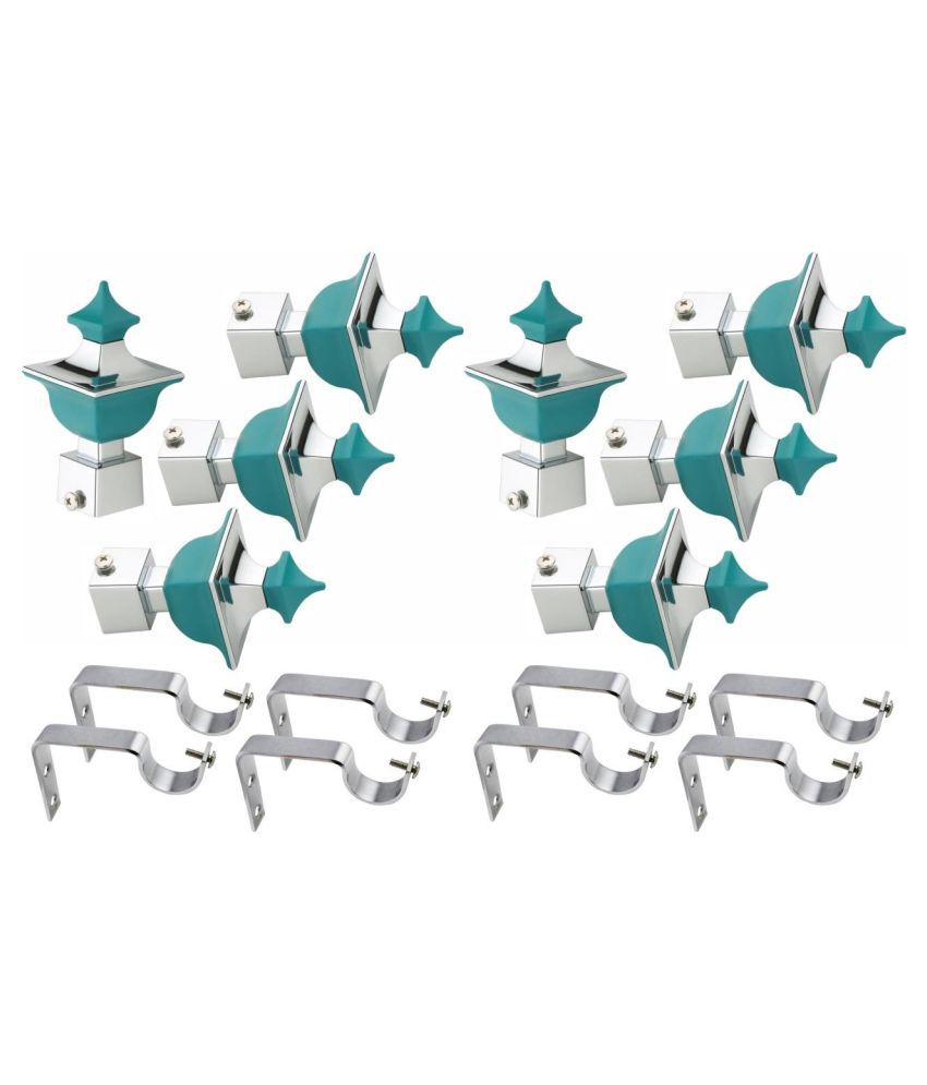 taj hardware gallery Set of 4 Stainless Steel Single Rod Bracket