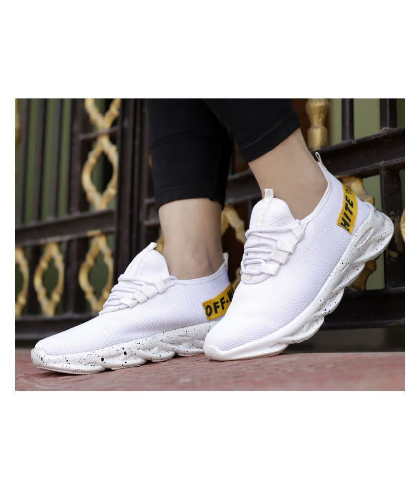 YUVRATO BAXI White Running Shoes