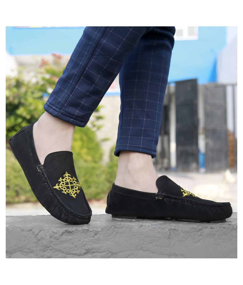 Global Rich Mules Black Casual Shoes