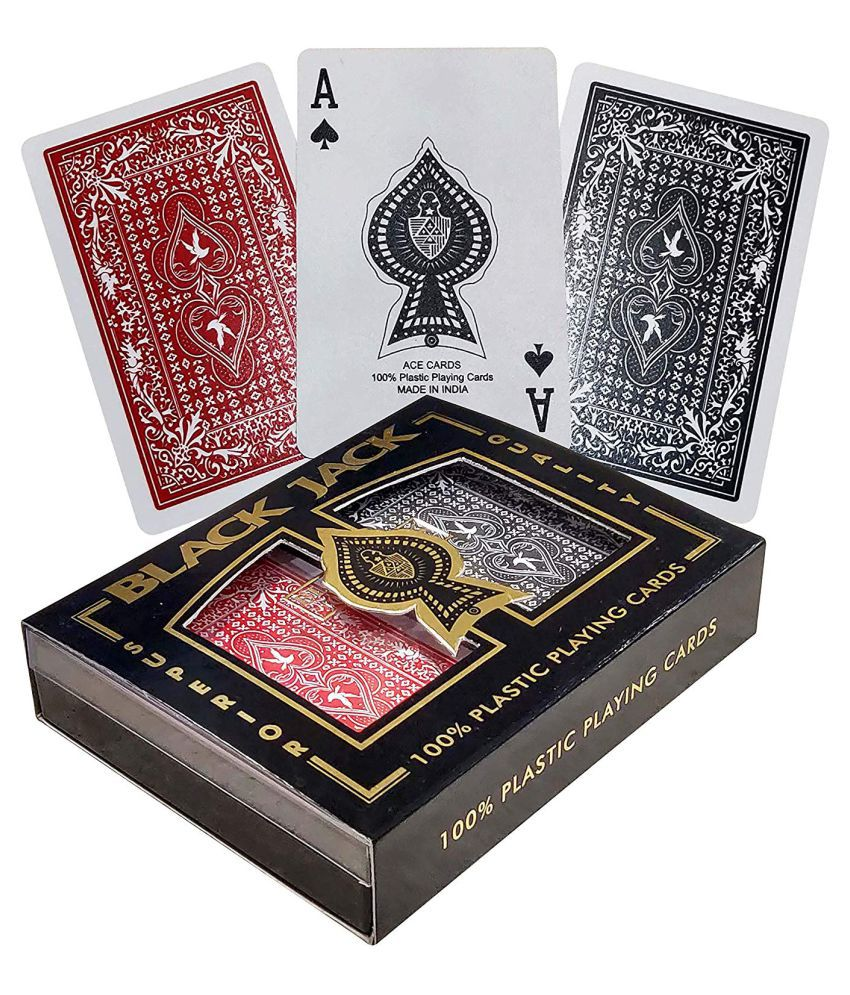 BlackJack Plastic Playing cards with Case 2 decks  (Washable)