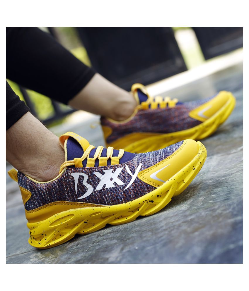 Global Rich Sneakers Yellow Casual Shoes