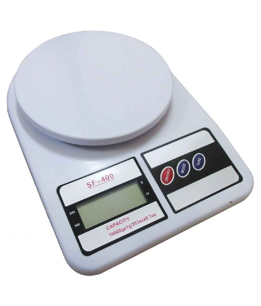 eBuyEnjoy Electronic Kitchen Scale SF-400 with Back Light Display, capacity 10KG Virgin Plastic Measuring Scale