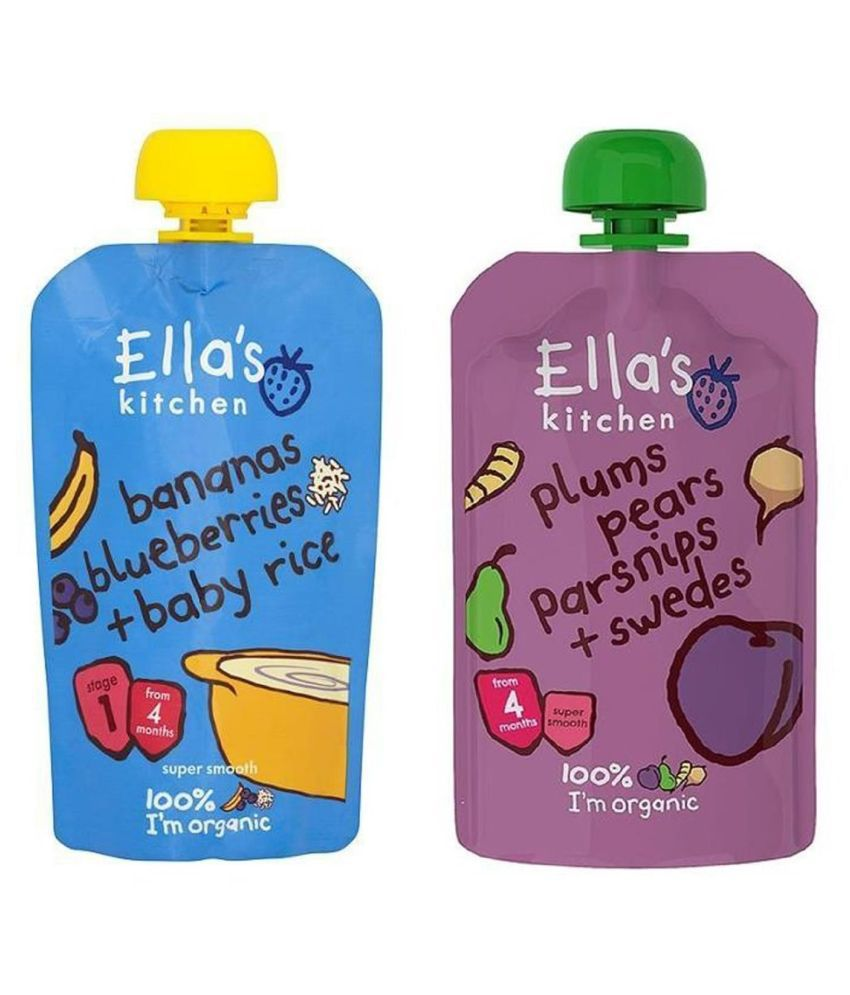 Ella's Kitchen Bananas Blueberries Snack Foods for 6 Months + ( 240 gm ) Pack of 2