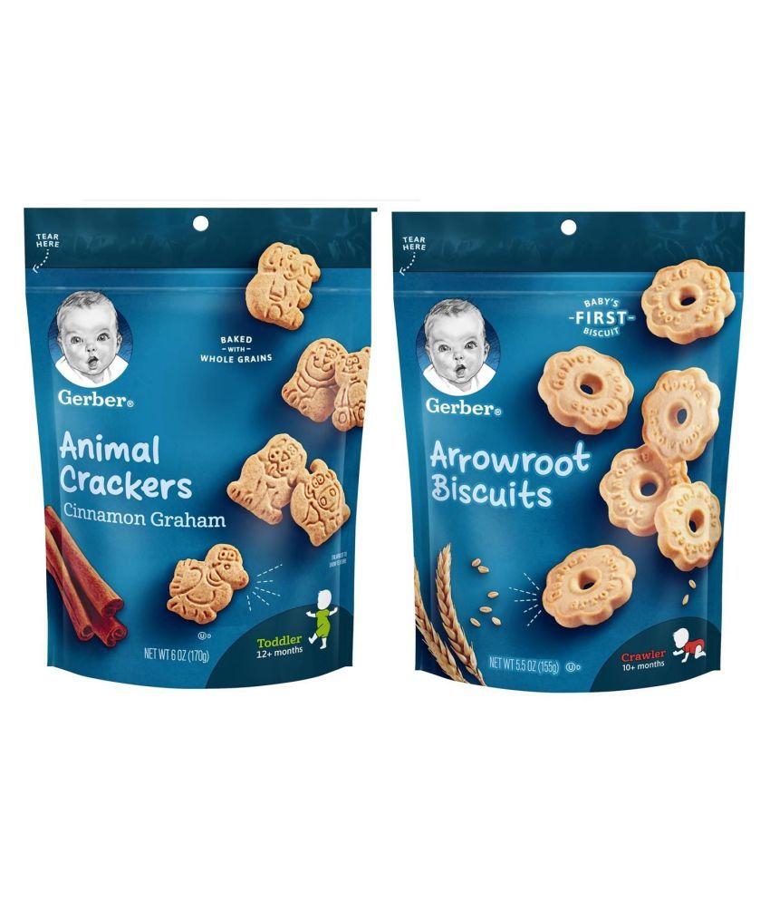 Gerber Cinnamon Graham Snack Foods for 18 Months + ( 250 gm ) Pack of 2