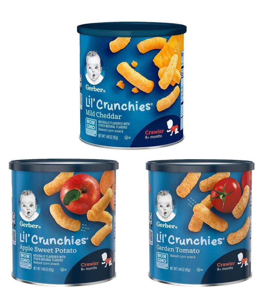 Gerber Mild Cheddar Snack Foods for 12 Months + ( 126 gm ) Pack of 3