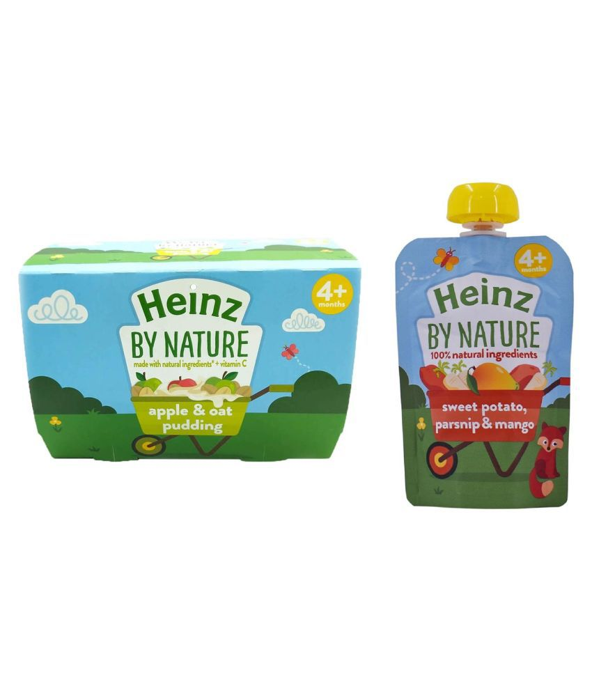 Heinz Apple  Oat Pudding Snack Foods for 6 Months + ( 200 gm ) Pack of 2