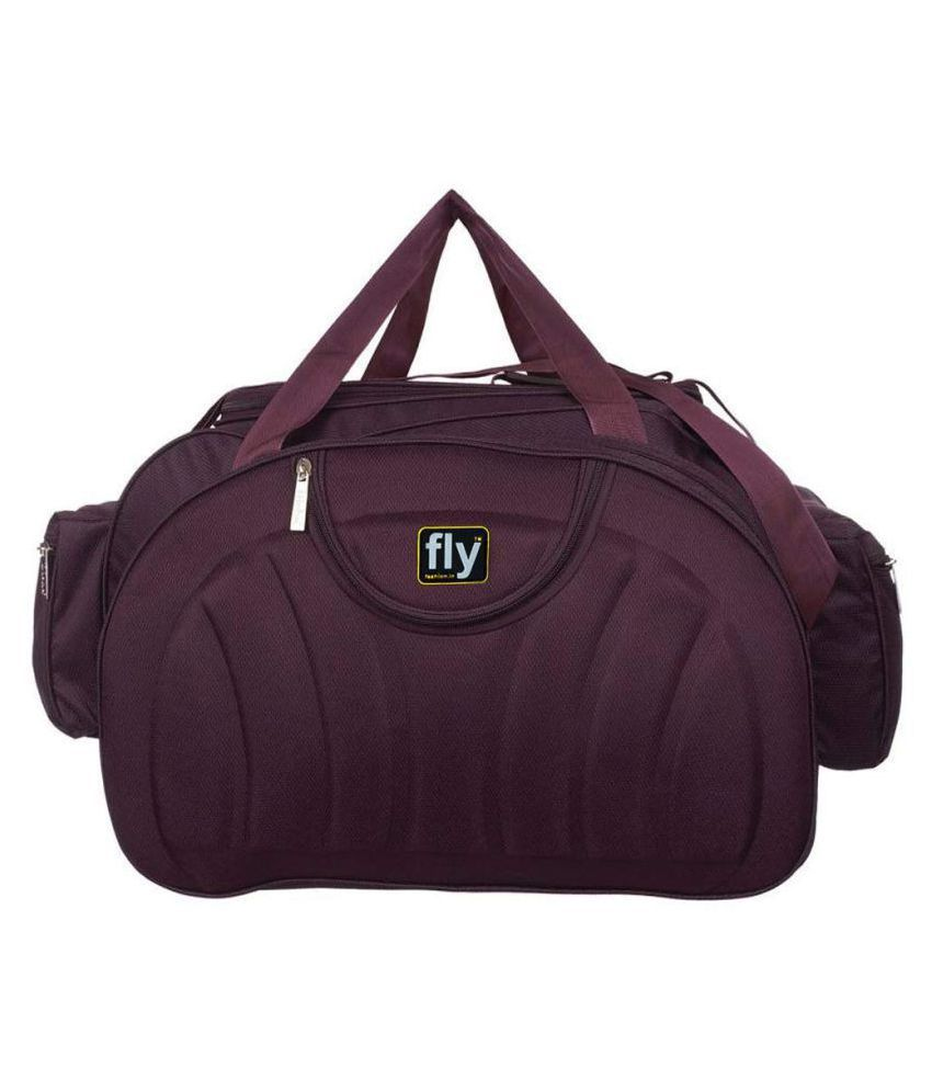 Leather Gifts Purple Solid M Duffle Bag