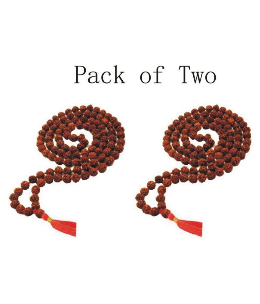 Pack Of two mala 10 mm rudraksha japa mala 108 beads original rudraksha certified mala original rudraksha mala for men rudraksha mala for women jap mala 108 beads