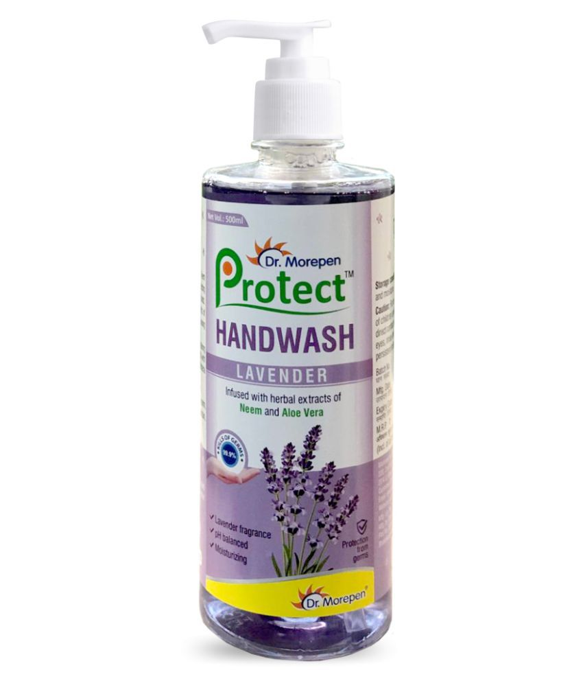 Dr. Morepen Protect Liquid Hand Wash With Neem, Aloe Vera & Lavender Hand Wash 500 mL Pack of 1