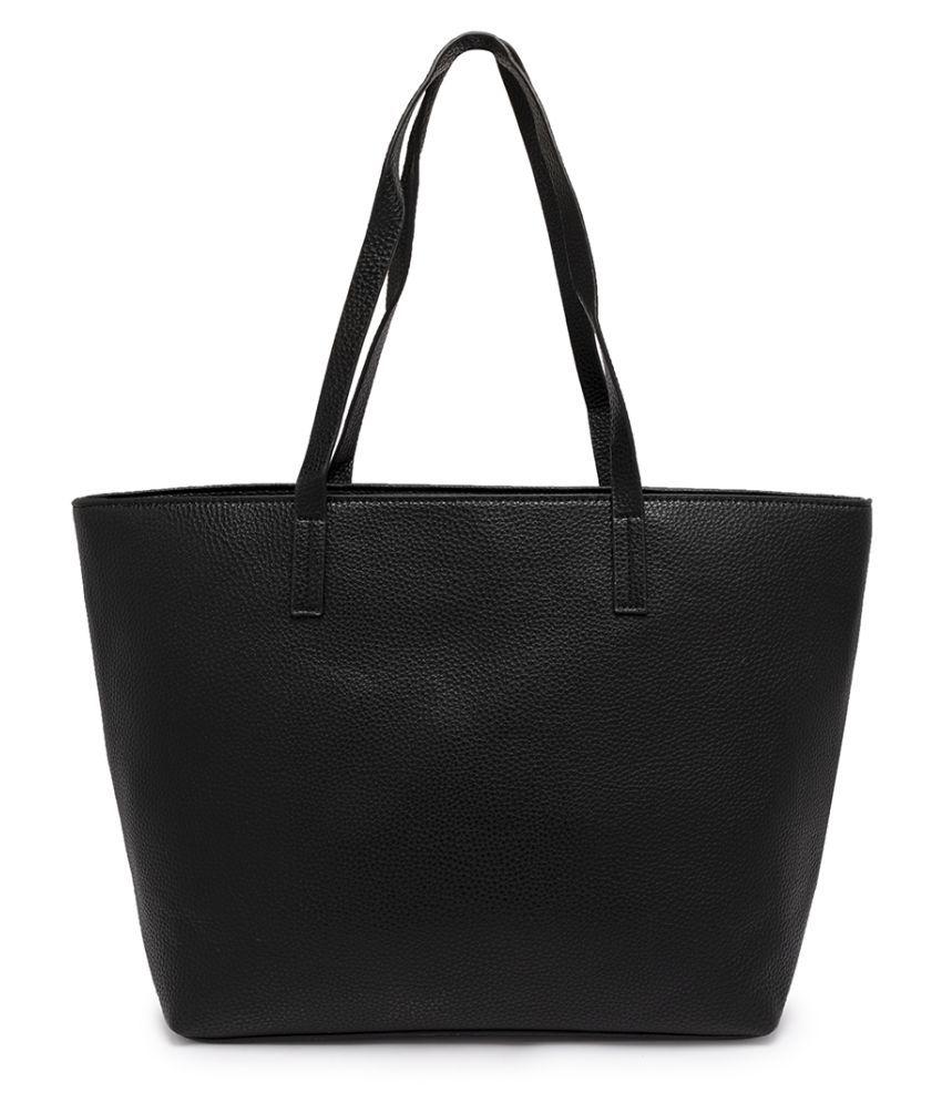 Satchel Bags & Accessories Black P.U. Tote Bag
