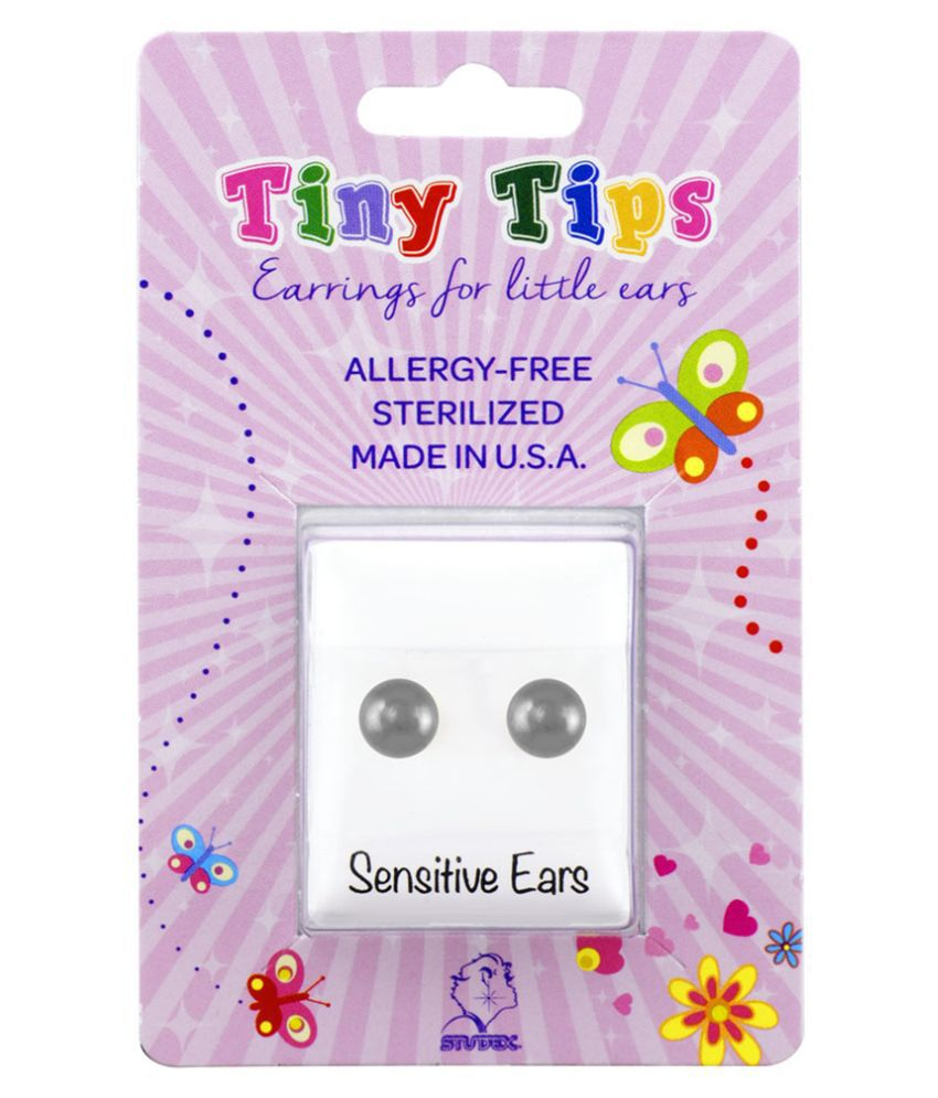 Studex Tiny Tips Stainless Steel 3MM Ball Ear Studs For Kids