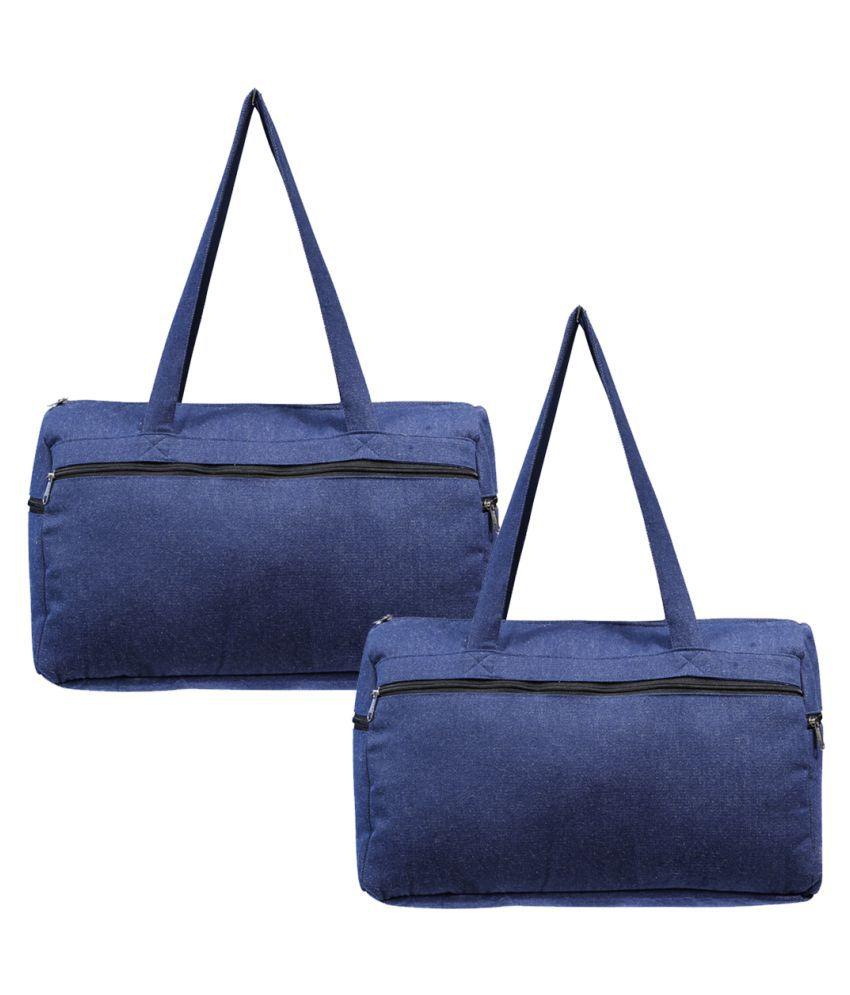 Rich&Rich Blue Solid M Duffle Bag