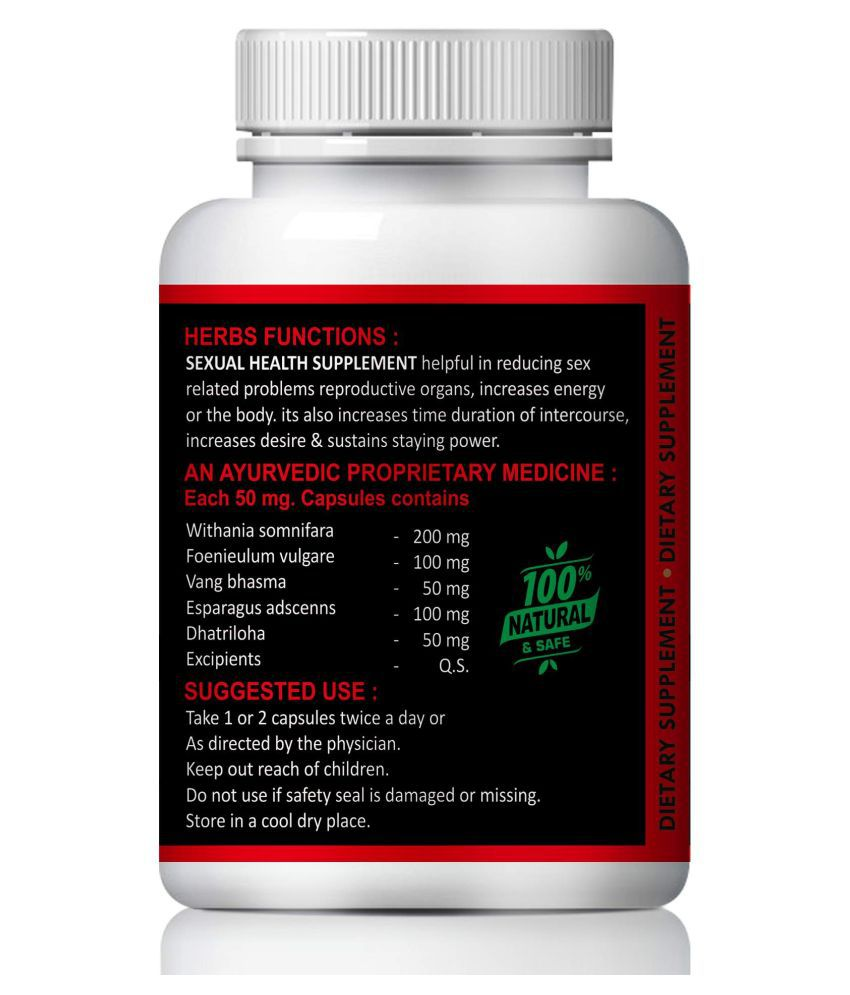 Natural Sexual health suppliment Capsule 60 no.s Pack Of 1
