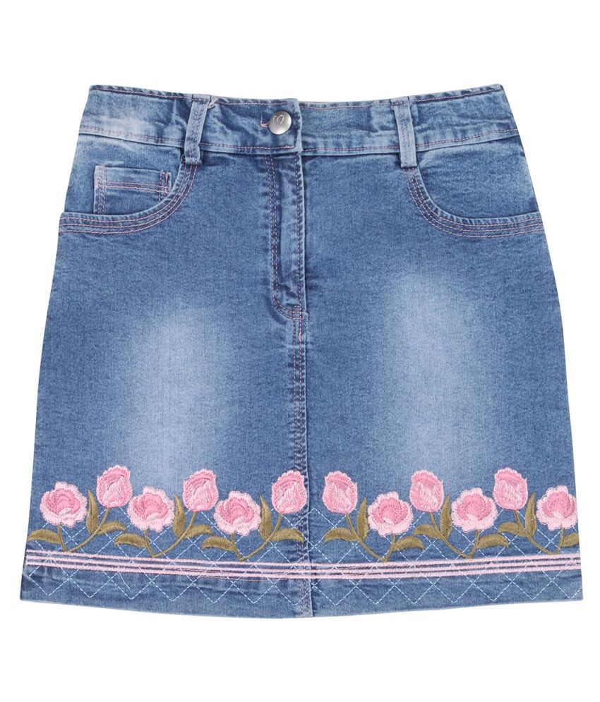 Smart casual Embroidered Skirts