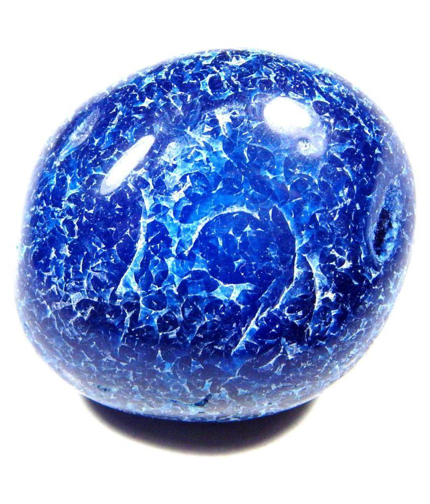 Urancia® Rare Piece Tumbled Blue Onyx 80.2Cts 1 Pcs