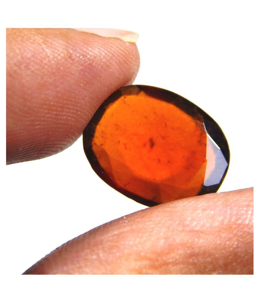 Urancia® The Very Good Quality Gomed Hessonite Gomedha 6.3cts Lab Certified
