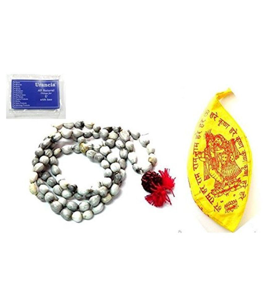 Urancia® Vaijanti Mala 108+1 Vaijanthi Bead Rosarie Vaijayanti Baijanti Free Gomukh Bag