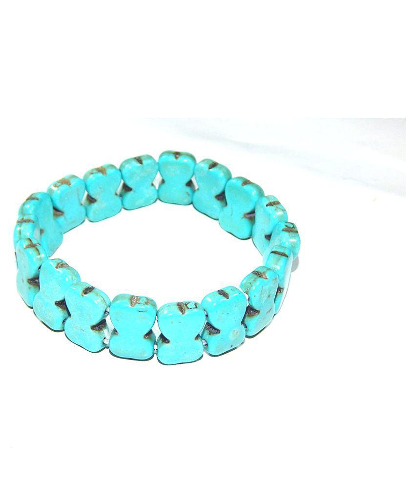 Urancia® Very Beautiful Turquoise Bracelet Firoza 3inch 33gm