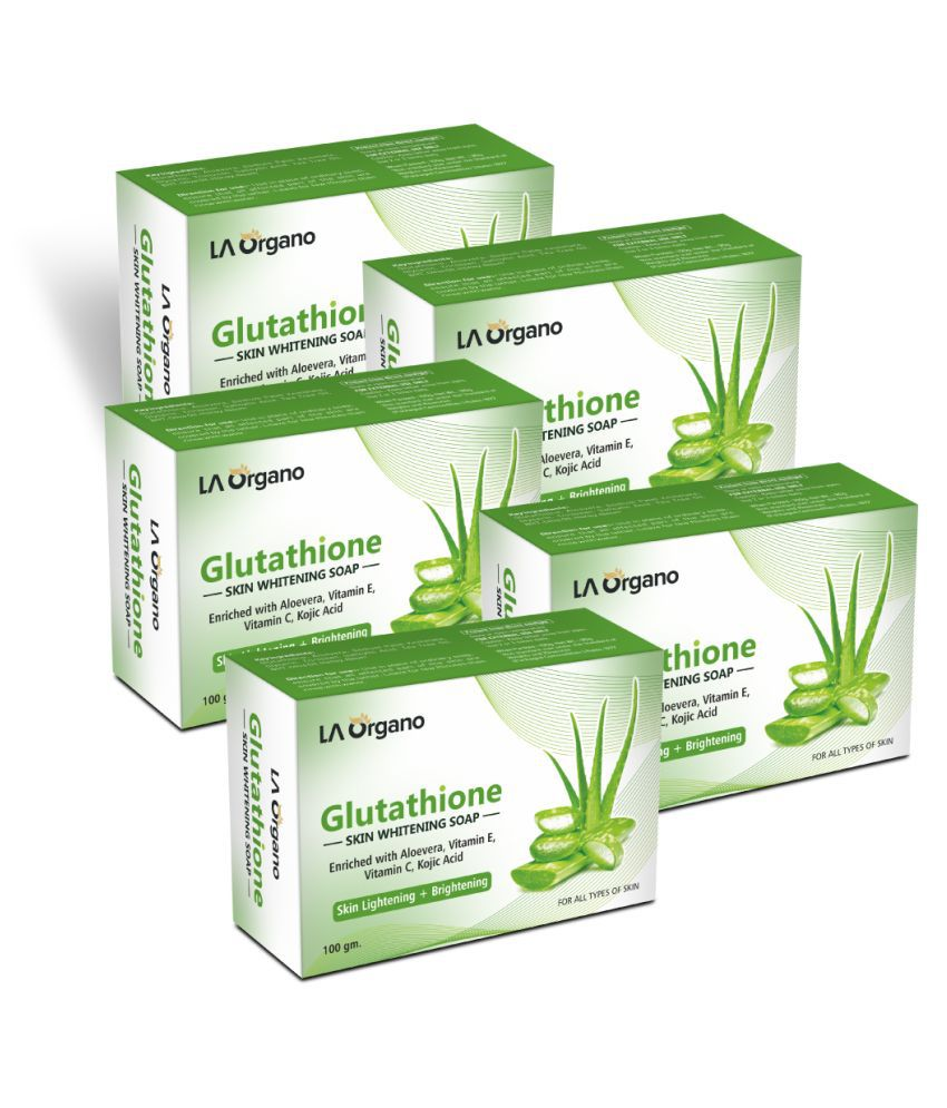 LA ORGANO Glutathione Aloe Vera Skin Lightening Soap 500 g Pack of 5