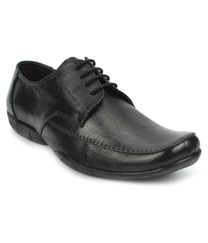 AVANTHIER Office Genuine Leather Black Formal Shoes