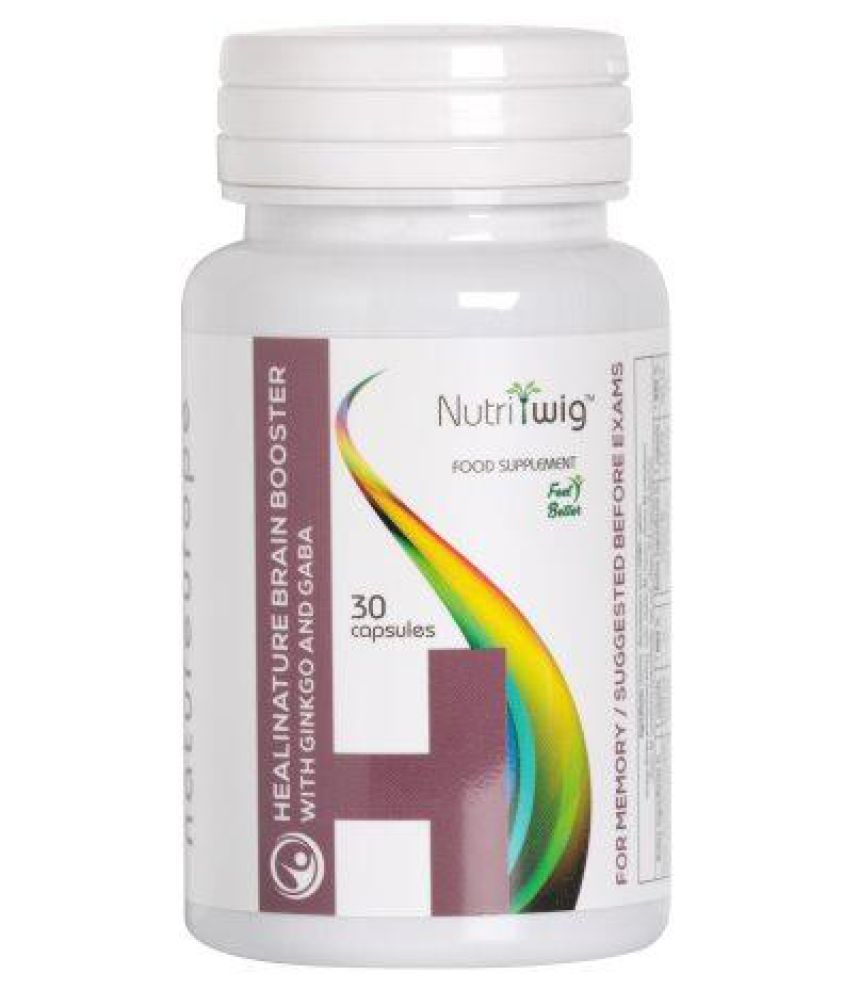 Nutritwig Healinature Brain Boosteer With Ginkgo & Gaba Capsule 30 no.s