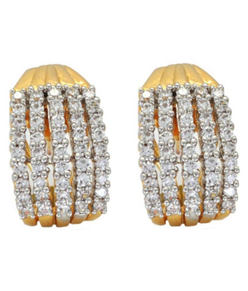 Penny Jewels Traditional Latest Oxidized Diamond Latest Funky Stylish Earrings Set For Women & Girls