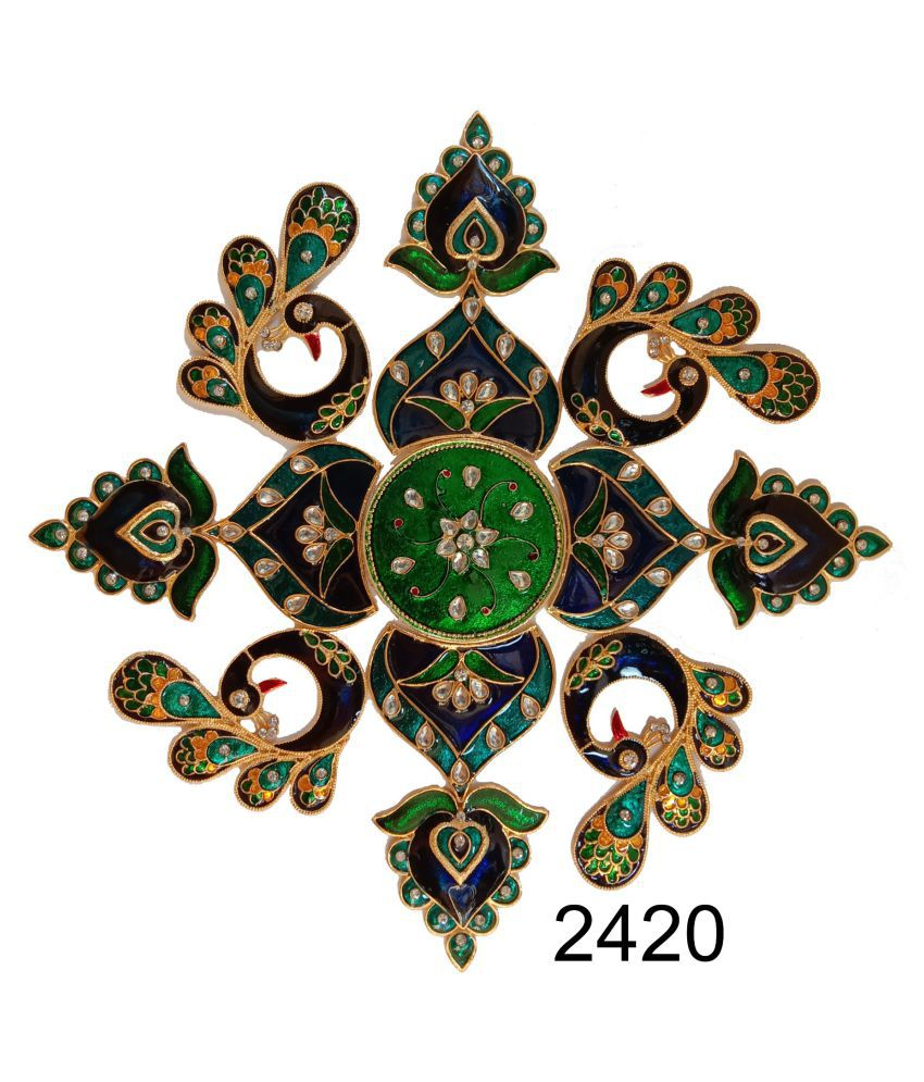 Kajalenterprises Multicolour Acrylic Rangoli   Pack of 13