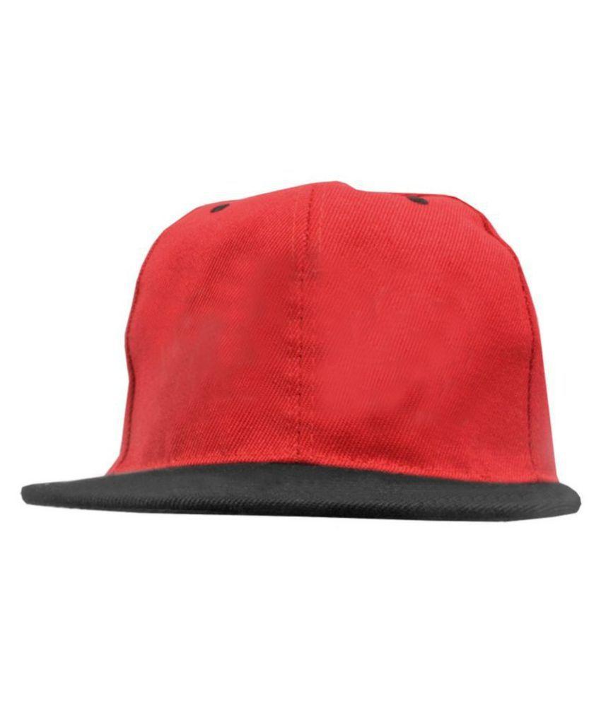 Jm Orange Plain Cotton Caps