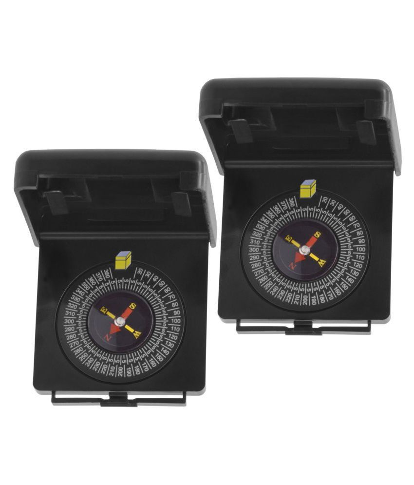 2 Piece Military Hiking Camping Lens Magnetic Compass