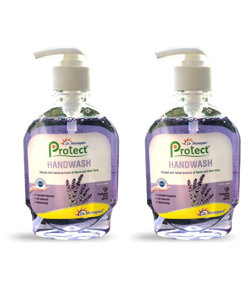 Dr. Morepen Protect Liquid Hand Wash With Lavender, Neem & Aloe Vera Hand Wash 500 mL Pack of 2