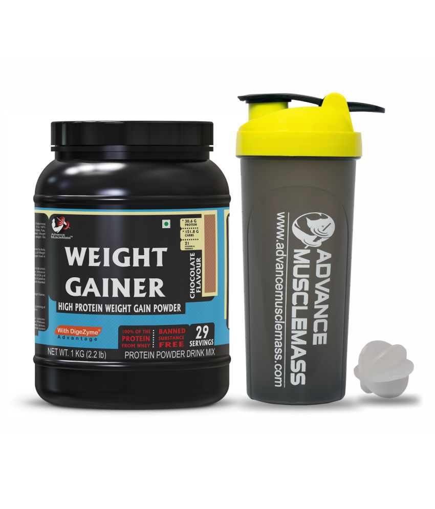 Advance MuscleMass Weight Gainer Chocolate  with Shaker 700 ml. 1 kg Weight Gainer Powder