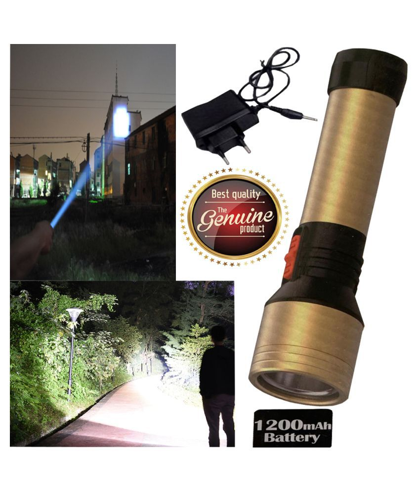 UC 700 Meter Long Beam Waterproof Chargeable 20W Flashlight Torch 20W Flashlight Torch - Pack of 1