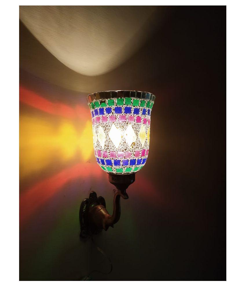 AIVYANSH MANOJ GLASS Glass Wall Light Multi - Pack of 1