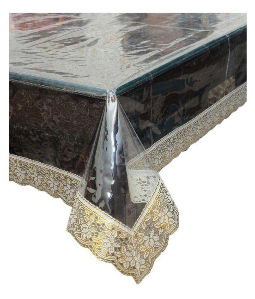 CreadCraft 4 Seater Transparent PVC Single Table Covers
