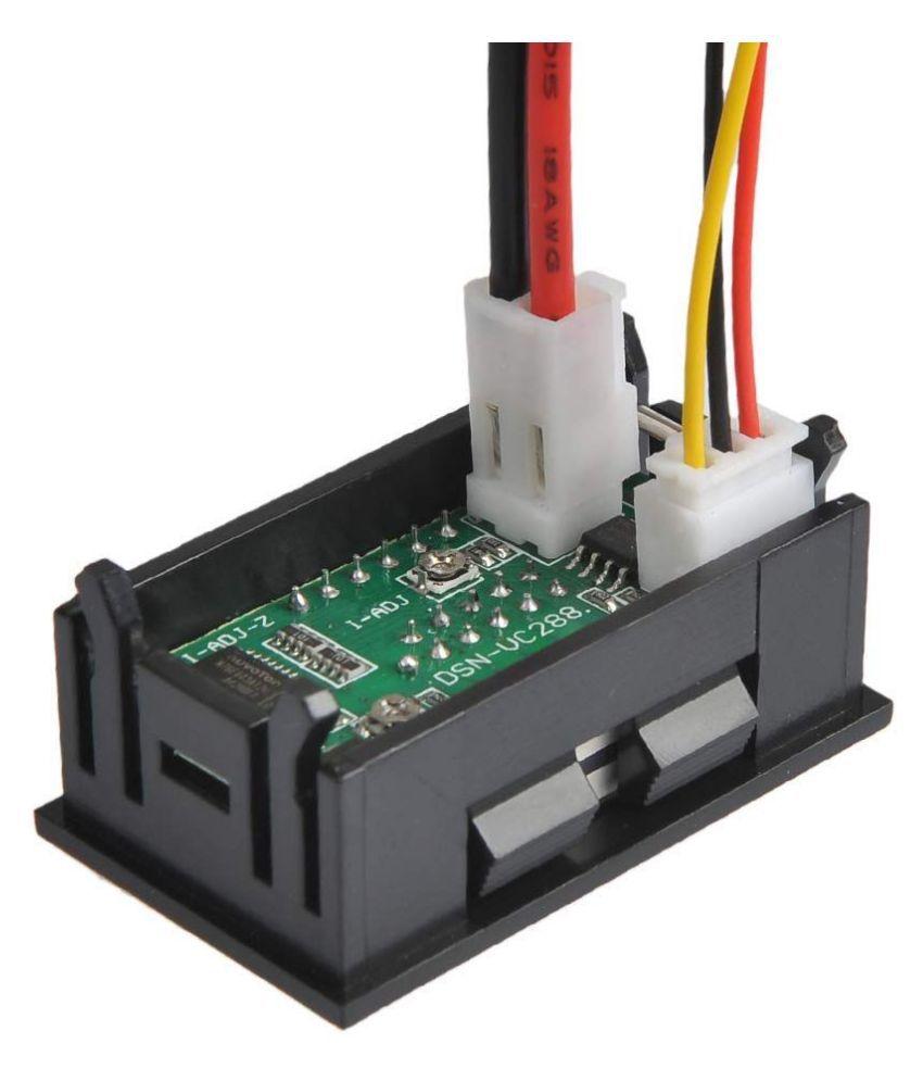 Iik 100v 10a Dc Dual Led Red And Blue Digital Voltmeter
