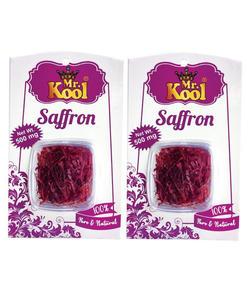 Mr.Kool Organic Kashmiri Saffron Card 2x500mg 1 gm Pack of 2