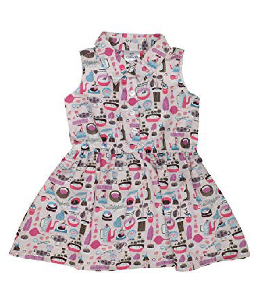 Girls Doodle Sleeveless Shirt Dress