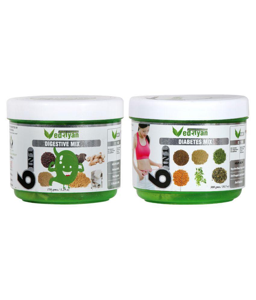 Vedgyan Organic   (Digestive Mix & Diabetes Mix) Powder 450 gm Pack Of 2
