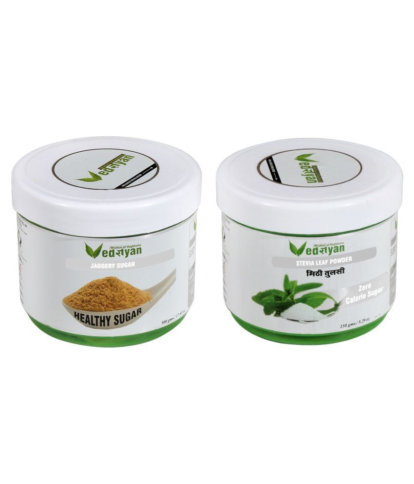 Vedgyan Organic Healthy (jaggery & Stevia) Powder 650 gm Pack Of 2