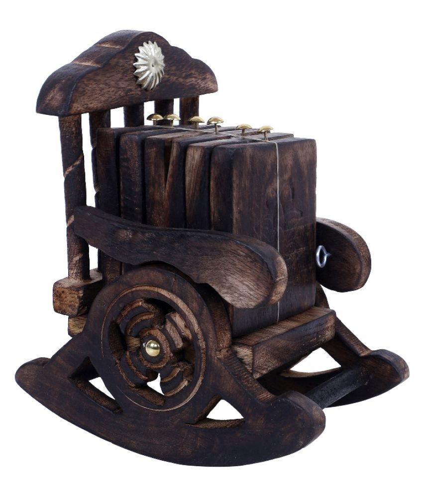 Fashion Art Brown Wood Handicraft Showpiece - Pack of 1