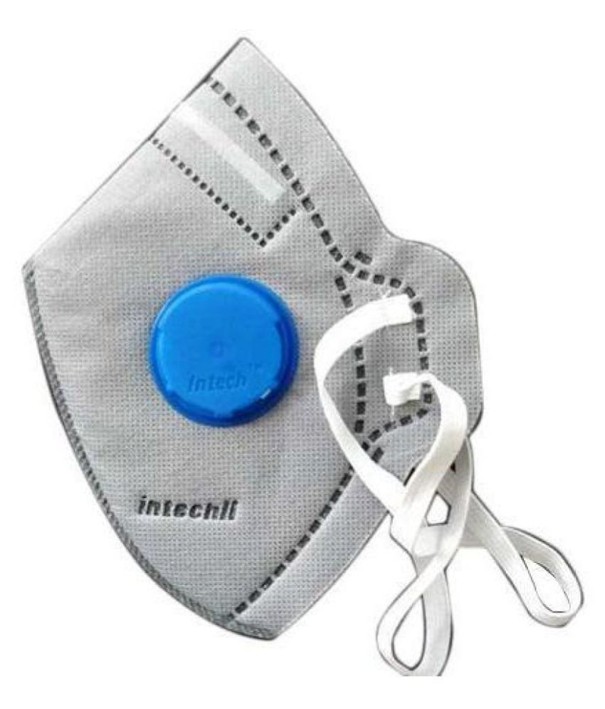 N95 Anti-Pollution Mask with Filter Valve PM 2.5 - Grey (Pack of 1)
