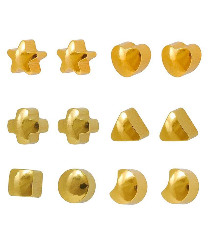 Studex Universal Gold Plated 3MM Regular Shapes Ear Stud (12 Pair)