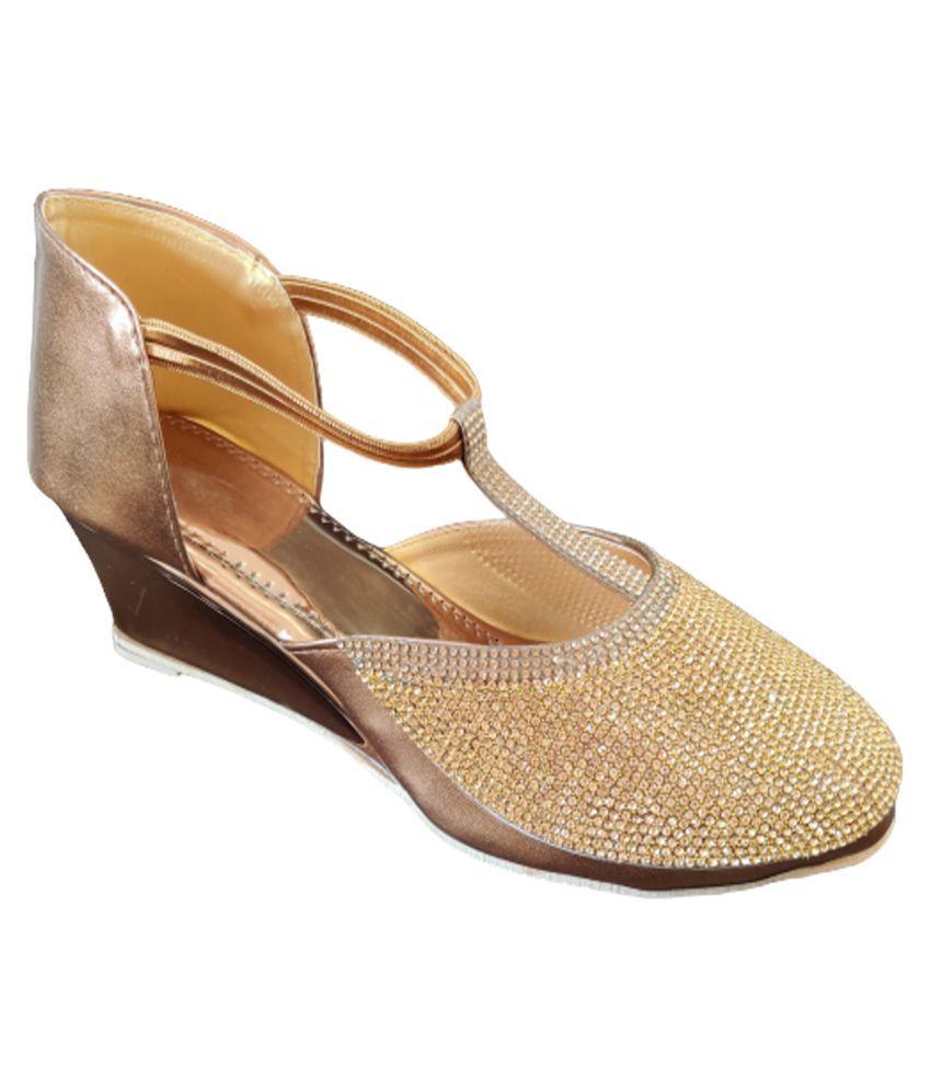 SIMATA Gold Wedges Heels