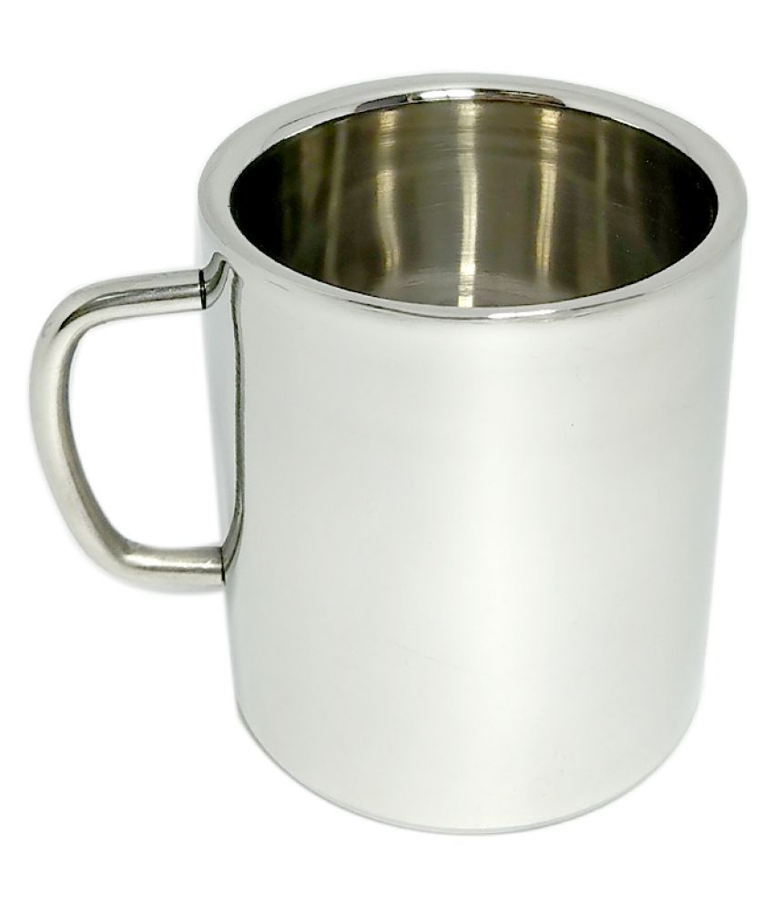 bartan hub Mug  1 300 ml Steel Coffee Mug 1 Pcs 300 mL
