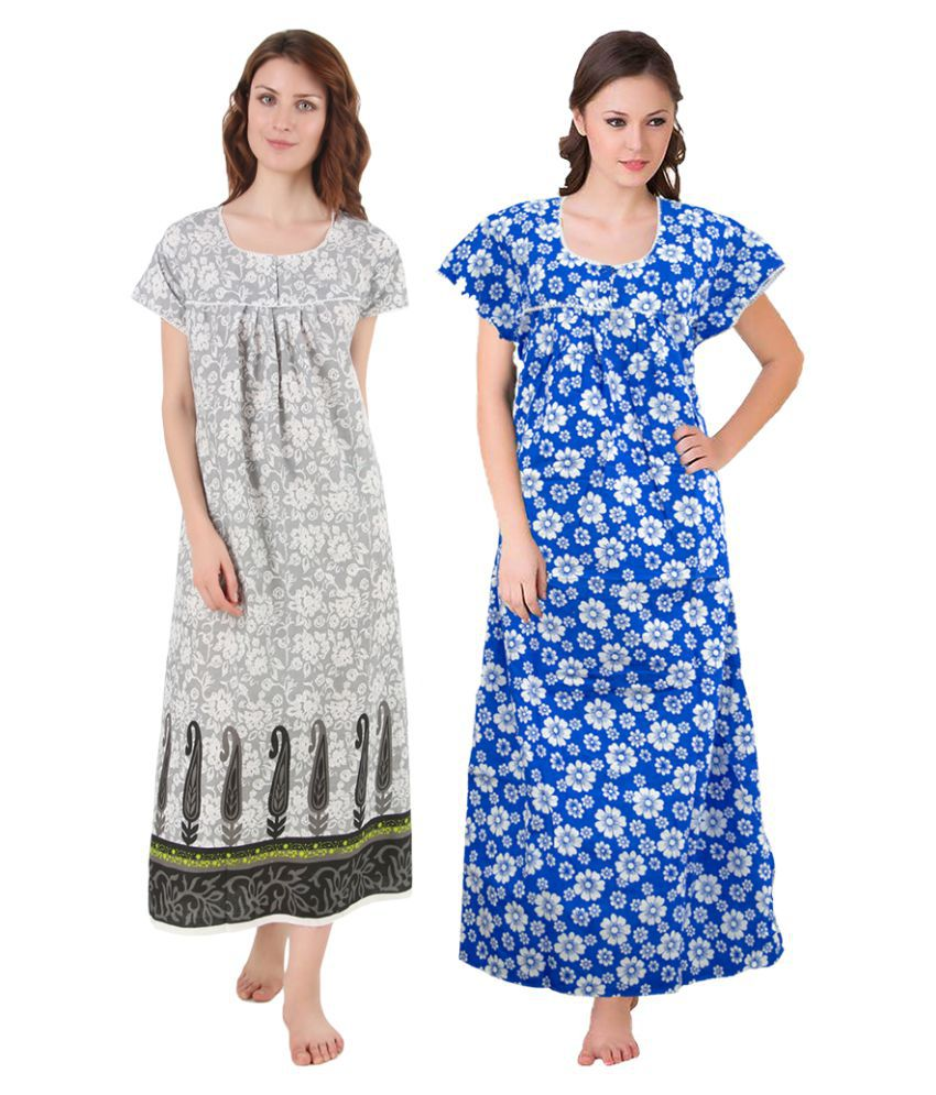 Gospel Cotton Nighty & Night Gowns - Multi Color