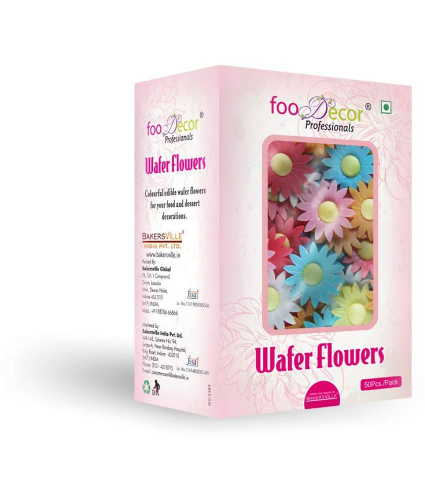 FooDecor Professionals Wafer Flowers  Sunflower- 50pcs 200 g