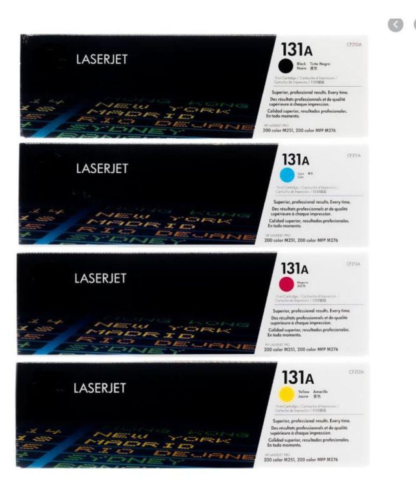 MHP 131A Color Pack of 4 Toner for HP 131 Toner Cartridge   CF 210,211,212,213  Pack Of 4 For Use HPLaserjet Pro 200,M251,MFP M276