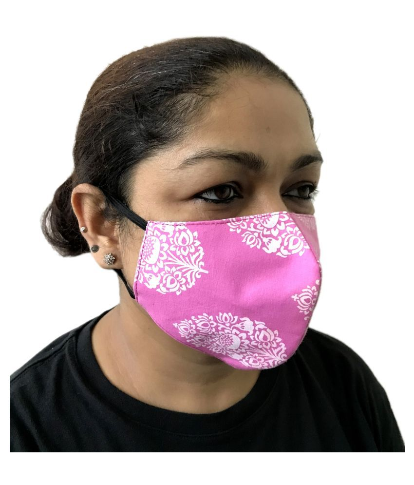 Pack of 2 High Quality Washable Reusable and Reversible cotton Face Mask