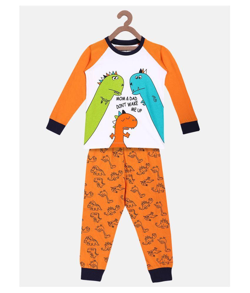 Lazy Shark Boys Nightwear Tshirt & Pyajama Set