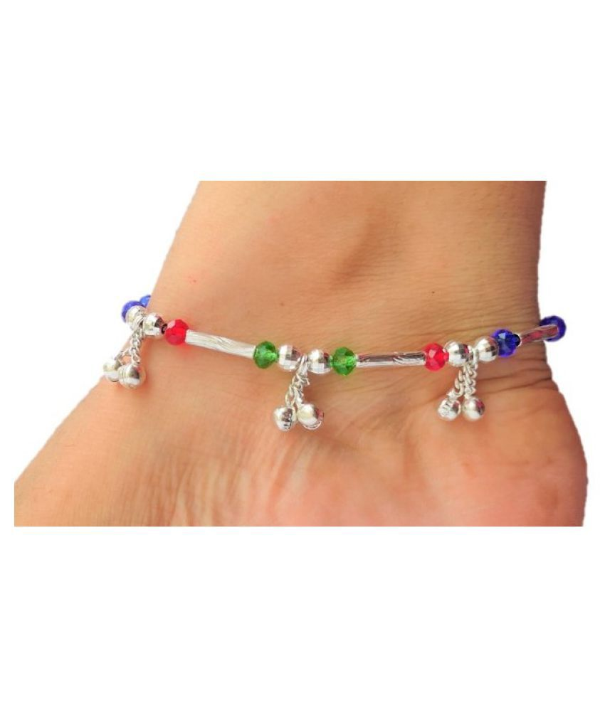 LOTUS RISE ANKLETS silver plated for women & girls